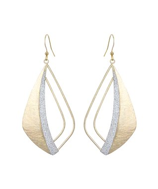 Alexa's Angels Two-Tone Cutout Teardrop Earrings