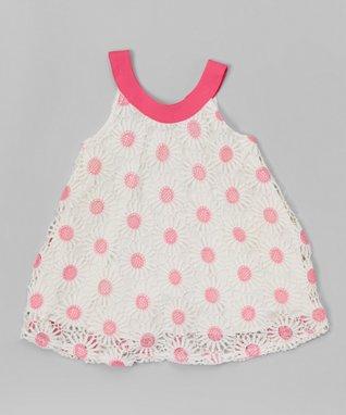Pink Floral Yoke Dress - Toddler & Girls
