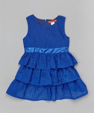 Yellow Stripe Bow Puff-Sleeve Dress - Toddler & Girls