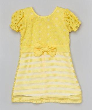 Green Polka Dot Tiered Dress - Toddler & Girls