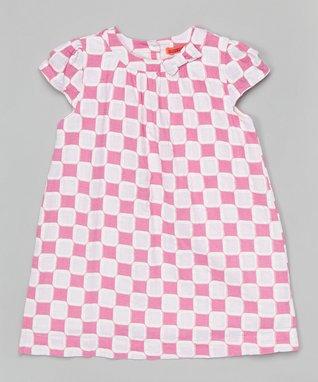 Yellow Checkerboard Cap-Sleeve Dress - Toddler & Girls