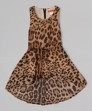 Brown Leopard Dress - Toddler & Girls