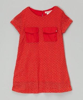 White & Black Polka Dot Floral Dress - Toddler & Girls