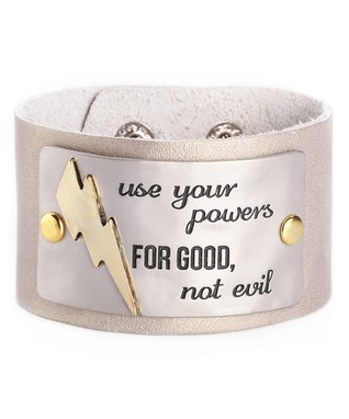 Alexa's Angels Champagne 'Powers' Leather Bracelet