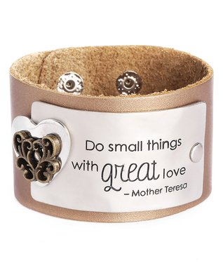 Alexa's Angels Bronze 'Love' Leather Bracelet