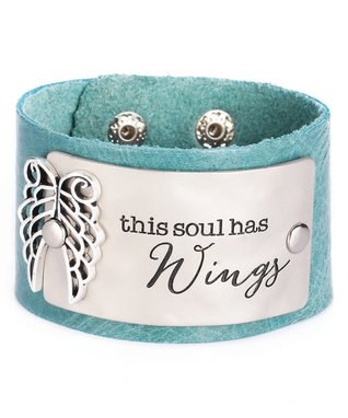 Alexa's Angels Teal 'Soul' Leather Bracelet