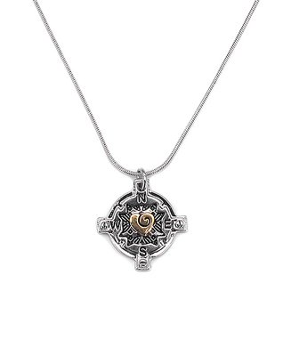 Alexa's Angels Two-Tone Love Compass Pendant Necklace