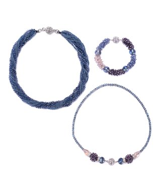 Alexa's Angels Blue Maggies Mix-n-Match Magnetic Necklace & Bracelet Set