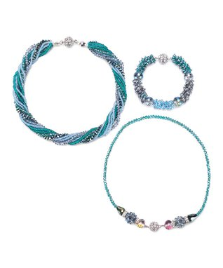 Alexa's Angels Teal Maggies Mix-n-Match Magnetic Necklace & Bracelet Set