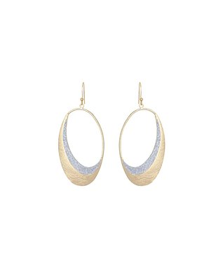 Alexa's Angels Two-Tone Half Moon Drop Earrings