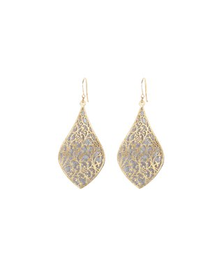 Alexa's Angels Two-Tone Ornate Drop Earrings