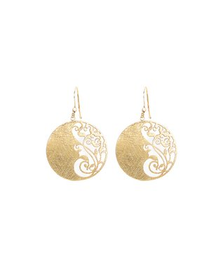 Alexa's Angels Gold Swirl Drop Earrings