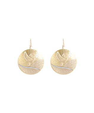 Alexa's Angels Gold Dove Drop Earrings