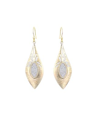 Alexa's Angels Two-Tone Marquis Drop Earrings
