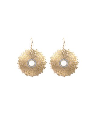 Alexa's Angels Two-Tone Starburst Drop Earrings