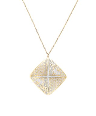 Alexa's Angels Two-Tone Star Pendant Necklace
