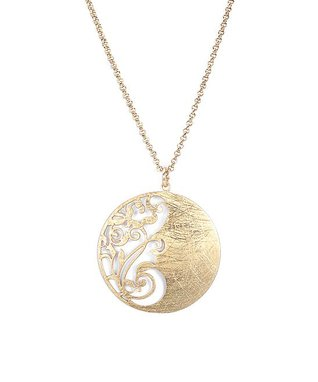 Alexa's Angels Two-Tone Swirl Pendant Necklace