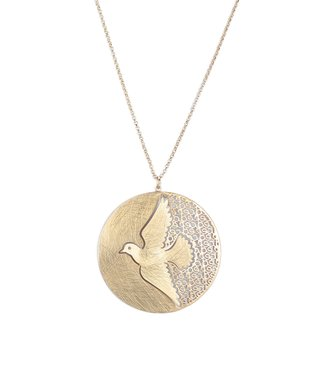 Alexa's Angels Gold Dove Pendant Necklace