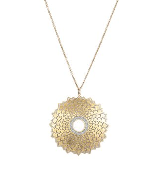 Alexa's Angels Two-Tone Starburst Pendant Necklace