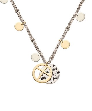 Alexa's Angels Two-Tone 'Family' Icon Pendant Necklace