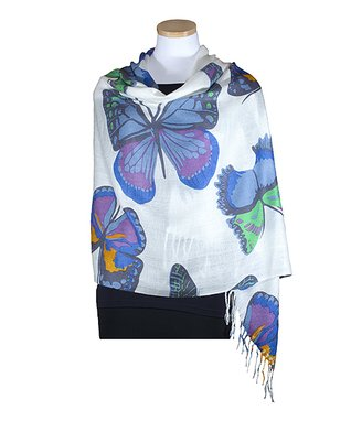 Van Klee Imports Blue Butterfly Shawl