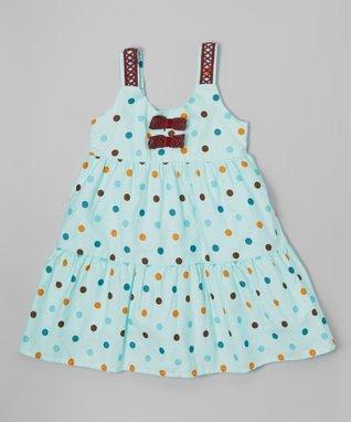 Blue Plaid Eyelet Dress - Toddler & Girls