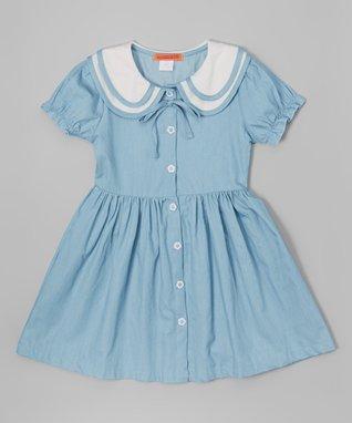Denim Peter Pan Collar Dress - Toddler & Girls