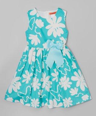 Green Floral Butterfly Dress - Toddler & Girls