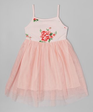 White Polka Dot Yoke Dress - Toddler & Girls
