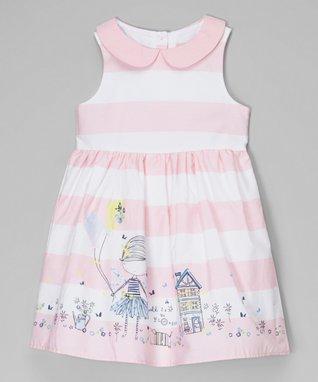 Pink Stripe Kite Peter Pan Collar Dress - Toddler