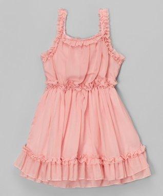 Dusty Pink Ruffle Dress - Toddler & Girls