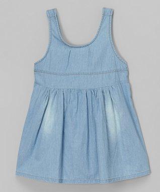 White & Denim Cat Dress - Toddler & Girls