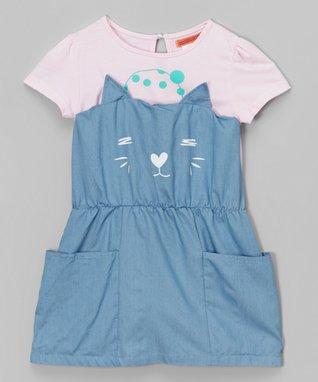Denim Belted Jumper - Toddler & Girls