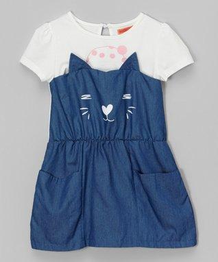 Black & Gray Floral Shift Dress - Toddler & Girls