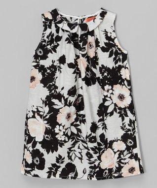 Blue & White Floral Shift Dress - Toddler & Girls