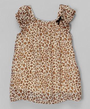 Cheetah Peasant Dress - Toddler & Girls