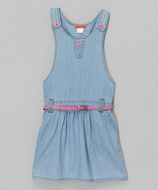 Sky Blue Lace Necklace Dress - Toddler & Girls