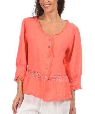 Anise Three-Quarter Sleeve Sidetail Top