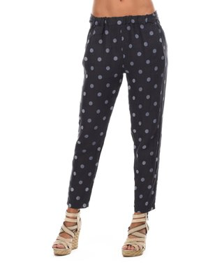 Navy Blue Polka Dot Soft Pants