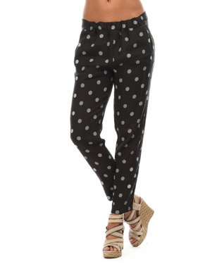Black Polka Dot Soft Pants