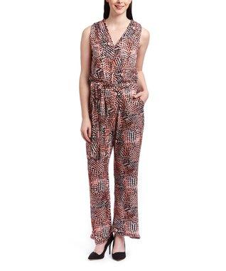 Shelby & Palmer Mint & Black Spot Tie-Waist Jumpsuit - Women