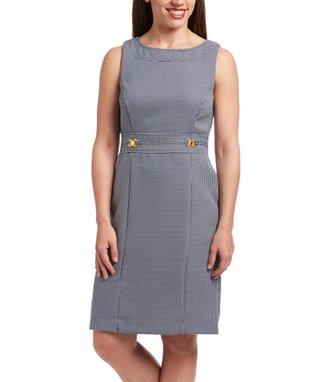 Shelby & Palmer Navy & White Sheath Dress - Women