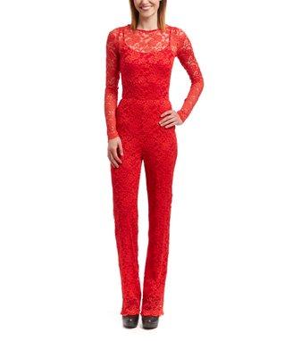 Wall Street Black Lace Jumpsuit - Women