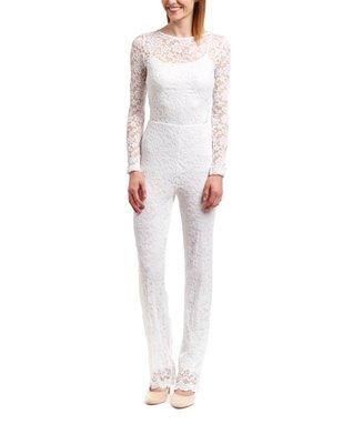 Wall Street White Lace Jumpsuit - Women