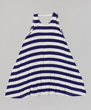 Navy Stripe Shift Dress - Toddler & Girls