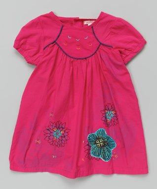 Orange Floral Lace Hi-Low Dress - Toddler & Girls